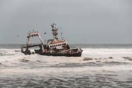 The famous shipwreck on Skeleton Coast, Namibia.